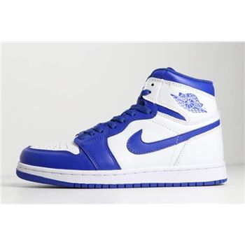 New Air Jordan 1 Mid Hyper Royal White/Hyper Royal 554724-114