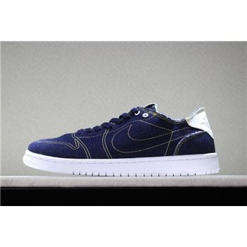 2018 Levi's x Air Jordan 1 Low Denim/Denim-Sail-White Free Shipping