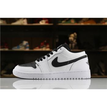 Men's and Women's Air Jordan 1 Low White Black 553560-103 For Sale