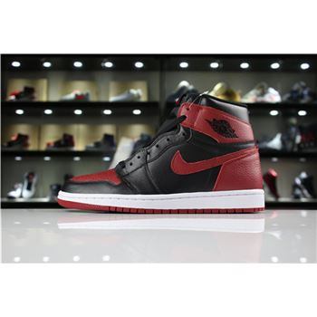 Men's Air Jordan 1 High OG Banned Black/Varsity Red-White 555088-001