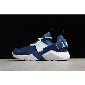 Men's and Women's Nike Air Huarache City Low Navy/White Running Shoes AH6804-400