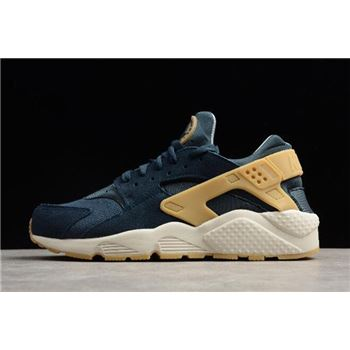 Nike Air Huarache Run SE Armory Navy/Gum Yellow-Blue Fox 852628-401