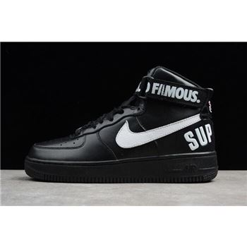 Supreme x Nike Air Force 1 High Black 698696-010 Men's and Women's Size