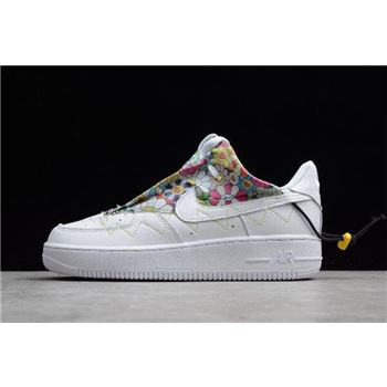WMNS Nike Air Force 1 '07 White/Flower QD1801-808