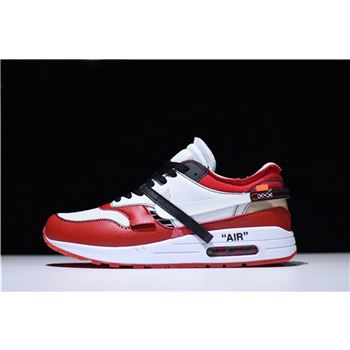 BespokeIND x Off-White x Nike Air Max 1 White-Black/Varsity Red For Sale