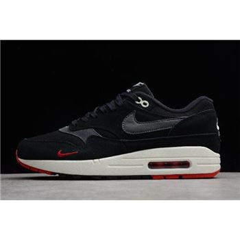 Nike Air Max 1 Premium Bred Black/Oil Grey-University Red 875844-007