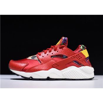 Nike WMNS Air Huarache Run Print Aloha University Red/Tour Yellow-Black 725076-601