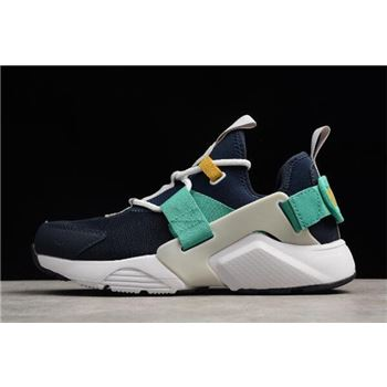 WMNS Nike Air Huarache City Low Obsidian/White-Vast Grey-Kinetic Green AH6804-401