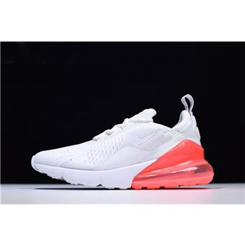 Mens and WMNS Nike Air Max 270 White/Hot Punch Running Shoes AH8050-103