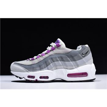 WMNS Nike Air Max 95 Pure Platinum/Hyper Violet-Wolf Grey 307960-001