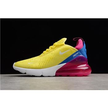 Women's Nike Air Max 270 Bright Lemon Yellow/White-Racer Blue