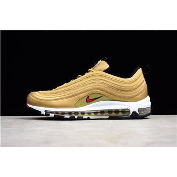 Latest Nike Air Max 97 OG Metallic Gold/Varsity Red-White-Black 884421-700