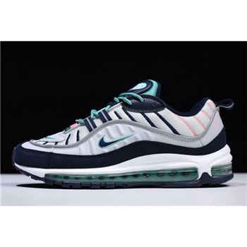 Nike Air Max 98 South Beach Pure Platinum/Obsidian-Kinetic Green 640744-005