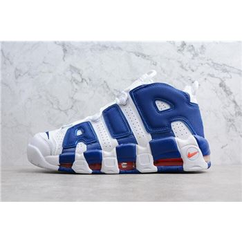 Nike Air More Uptempo Knicks White/Deep Royal Blue-Team Orange 921948-101
