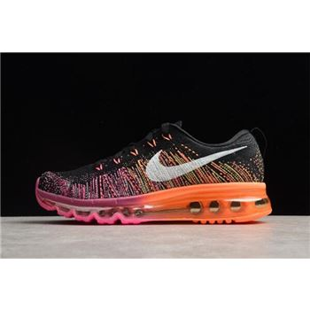 Nike WMNS Flyknit Max Black/Sail-Bright Magenta-Atomic Orange 620659-015