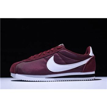 Mens and WMNS Nike Cortez Nylon Dark Team Red/White-Black Free Shipping