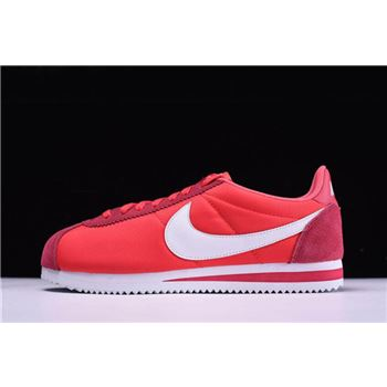 Nike Classic Cortez Nylon Gym Red/White Men's and Women's Size 488291-603