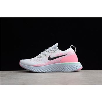 Womens Nike Epic React Pink Beam Pure Platinum/Hydrogen Blue-Pink Beam-Black AQ0067-007