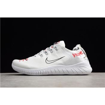 Novo x Nike Free RN 2018 T-shirt White/Speed Red-Black AH3966-106