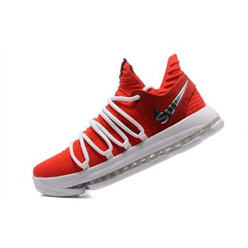Supreme x Nike KD 10 University Red/White Men's Basketball Shoes