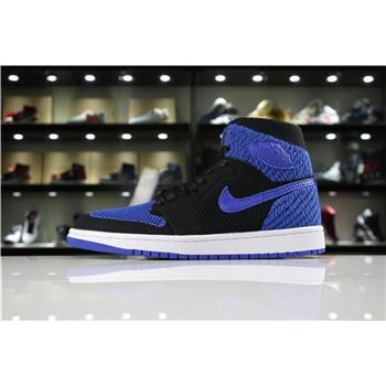 Air Jordan 1 Retro High Flyknit Royal Black/Game Royal-White 919704-006