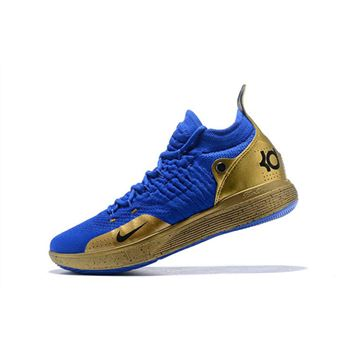 Nike KD 11 Royal Blue/Metallic Gold For Sale