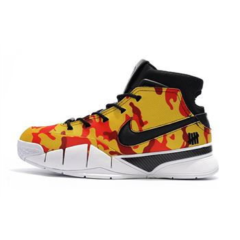 Undefeated x Nike Zoom Kobe 1 Protro Yellow Camo Men's Shoes Free Shipping