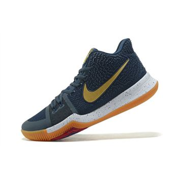 Nike Kyrie 3 Dark Obsidian/Metallic Gold-White Men's Basketball Shoes