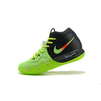 Cheap Nike Kyrie 4 Neon PE Black Volt Red Free Shipping