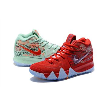 Nike Kyrie 4 What The Red and Green Basketball Shoes