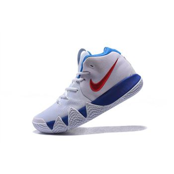 Nike Kyrie 4 White Blue Red Men's Basketball Shoes