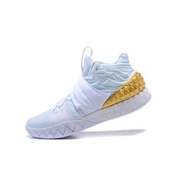 Nike Kyrie S1 Hybrid White/Metallic Gold Men's Size Free Shipping