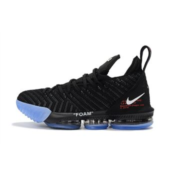2018 Off-White x Nike LeBron 16 Black Basketball Shoes For Sale