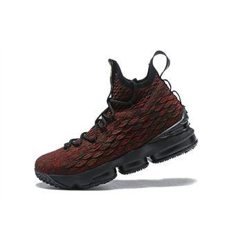 Men's Nike LeBron 15 BHM Black/Multi-Color Basketball Shoes AA3857-900