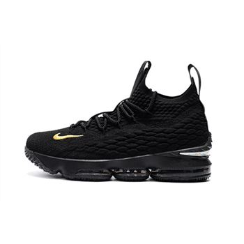 Men's Nike LeBron 15 PK80 all-Black Basketball Shoes