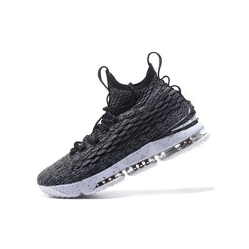 Nike LeBron 15 Ashes Black/White Men's Basketball Shoes 897648-002