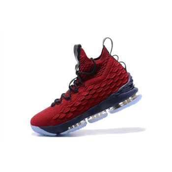Nike LeBron 15 Burgundy/Navy Blue Men's Basketball Shoes