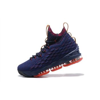 Nike LeBron 15 Cavs Navy/Wine-Vachetta Tan Men's Basketball Shoes