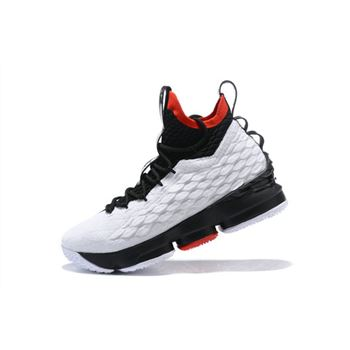 Nike LeBron 15 White Black Red Men's Basketball Shoes