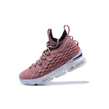 Nike LeBron 15 Wine Red Flyknit Basketball Shoes 897649-201