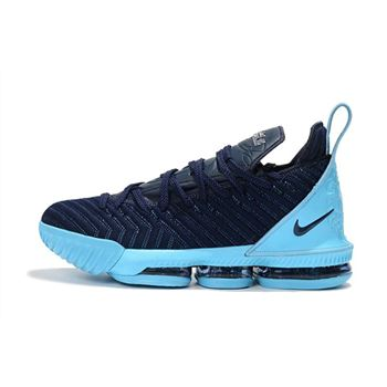 Nike LeBron 16 Navy Blue/Jade-White Men's Size Free Shipping