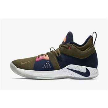 2018 Nike PG 2 ACG EP Olive Canvas Basketball Shoes Free Shipping