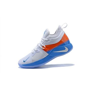 Nike PG 2 White Orange Blue Men's Basketball Shoes