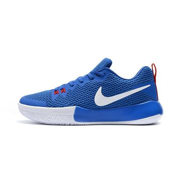 Men's Nike Zoom Live II EP Racer Blue/Total Crimson-White Basketball Shoes