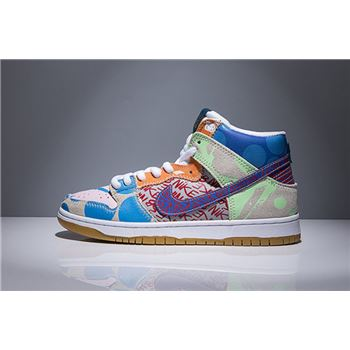 Nike SB Zoom Dunk High Premium TC What The Ice Jade/Circuit Orange-Sail 918321-381