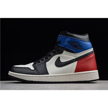 Air Jordan 1 Retro High OG Black/White-Campus Red 555088-703