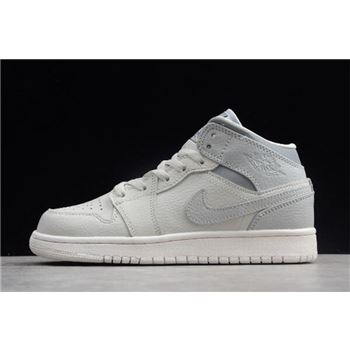Air Jordan 1 Mid GS Light Bone/Grey 554725-053