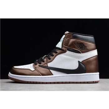2019 Travis Scott x Air Jordan 1 High OG Bronze/Black-White