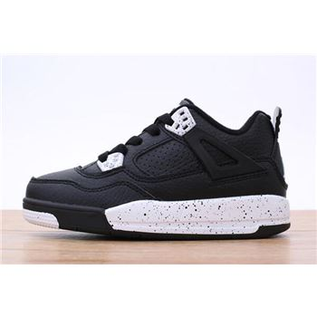Kid's Air Jordan 4 Black White