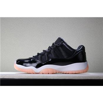 Girls Air Jordan 11 Low GS Bleached Coral Black/Bleached Coral-White 580521-013